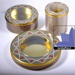 فروش قوطی فلزی زعفران با قیمت عمده